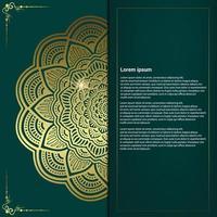Blumen und Mandala dekorative dekorative Rahmen Hintergrund Luxus vektor