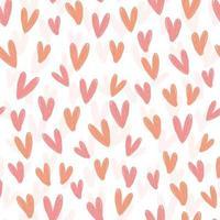 sömlös söt alla hjärtans dag mönster bakgrund från hjärta form vektor