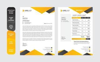 modernes kreatives und sauberes Briefkopfbündel im Business-Stil vektor