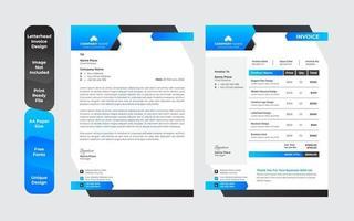 modernes abstraktes buntes Briefkopfdesign mit klarem Designsatz