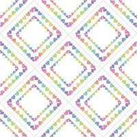 sömlös söt alla hjärtans dag mönster bakgrund med färgglada hjärta ram dekor vektor