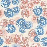 nahtloser Valentinstag Musterhintergrund mit blauen und rosa Rosen