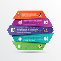 Vektor-Infografik-Vorlage mit 3D-Papieretikett, integrierte Kreise. Geschäftskonzept mit Optionen. für Inhalt, Diagramm, Flussdiagramm, Schritte, Teile, Zeitleisten-Infografiken, Workflow-Layout, Diagramm vektor