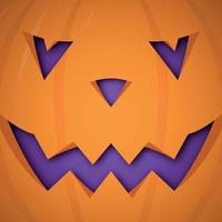 Vektor Halloween Kürbis Hintergrund. Kürbis gruseliges Gesicht Design für Halloween.