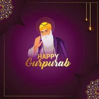 glückliches gurpurab Feiertagskartenentwurf