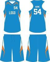Basketball Uniform Uniform Design Sport Trikot vektor