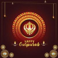 glad guru gobind singh jayanti firande bakgrund vektor