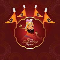 glücklicher guru gobind singh jayanti feierhintergrund