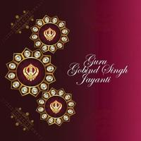 Sikh Festival, glückliche Guru Gobind Singh Jayanti Karte