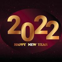 Frohes neues Jahr 2022 Feierkarte mit Glitzer