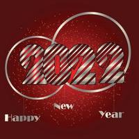 Frohes neues Jahr 2021 Silber Text Design