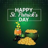 saint patrick's day design med guldmynt vektor