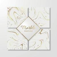 guldmarmormallar för inbjudan, spara datum, kort, affischer, broschyrer etc. abstrakt marmorbakgrund. vektor