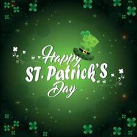 st. Patrick's Day Hat och Shamrocks vektor