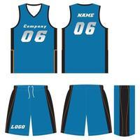 anpassad design basket t-shirt uniform kit vektor