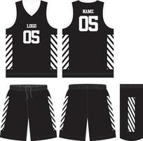 Basketball-Trikot-Shorts für den Verein vektor