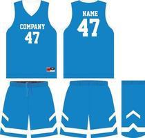 Basketballtrikot und Shorts vorne und hinten vektor