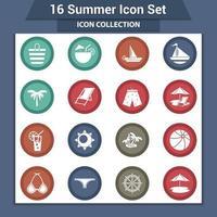 Sommer Strand Artikel Sammlung vektor