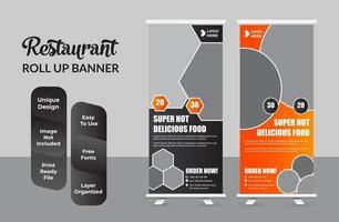 Zusammenfassung des abstrakten Design-Sets der Roll-up-Banner-Designvorlage vektor