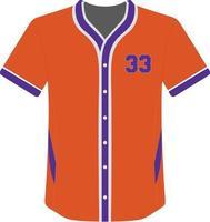 kundenspezifisches Design Baseball Trikots voller Knopf Symbol vektor