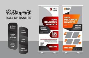 Food Roll Up Banner für Restaurant Set vektor