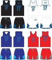 reversible Trikotshorts in Basketballuniform vektor