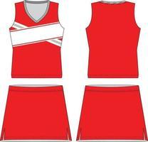 sublimiertes ärmelloses Kleid mit V-Ausschnitt vektor