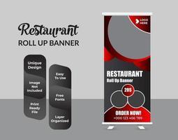 Roll-up-Banner-Design-Vorlage moderne X-Banner vektor