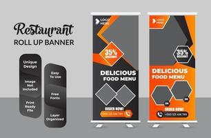 Roll-up-Banner-Design-Vorlage modernes X-Banner-Set vektor