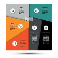 Erklärung der Segmentierungsarbeit und Funktionen. verschiedene Geschäftsprozesse analysieren. vektor