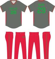benutzerdefinierte Design Baseball Trikot Uniform Mock-Ups vektor