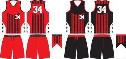 reversibles Basketballuniform-Trikot und Shorts vektor