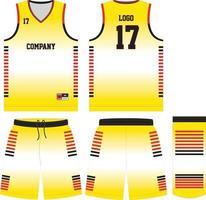 Basketball T-Shirt Design Uniform Set vektor