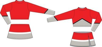 sublimerade cheer uniform mock ups mallar vektor