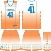benutzerdefinierte Design-Modellvorlagen für Basketballuniformen vektor