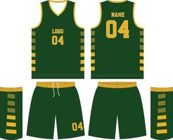 Basketball T-Shirt Design Uniform Set vektor