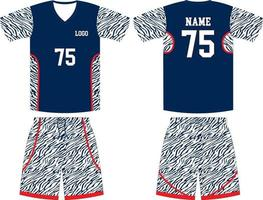 Basketball Uniform Hemd und Shorts Mock-Ups vektor