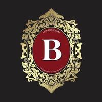 Wappen Design Vorlage, Ornament Luxus Vintage Logo, Monogramm Wappen für Restaurant, Immobilien, Spa, Mode Markenidentität vektor