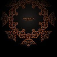 Luxus Mandala Gold Farbe mit stilvollen Hintergrund
