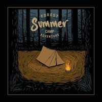 Sommer camp.premium Vektor