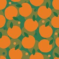 nahtlose Hand zeichnen Orange mit Glitzermuster Hintergrund vektor