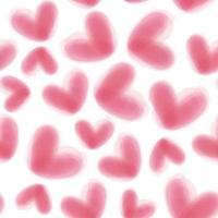 sömlös alla hjärtans dag mönster bakgrund med rosa mild hjärta vektor