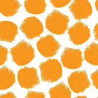 nahtloser orange quadratischer Formmusterhintergrund von Wachsmalstiftfarbe vektor