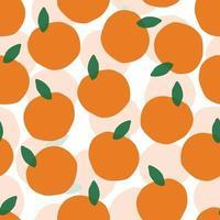 nahtlose Hand zeichnen orange Muster auf weißem Hintergrund vektor