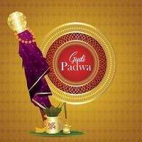 Gudi Padwa kreative Grußkarte