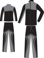 Custom Design Männer Track Anzüge Mock-Ups vektor