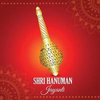 kreativ bakgrund med Lord Hanuman vapen vektor