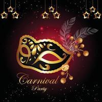 Karneval flaches Konzept Party Design vektor