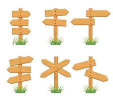 Holzschild Set Sammlung vektor