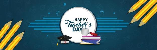 glad lärares dagskortsdesign vektor